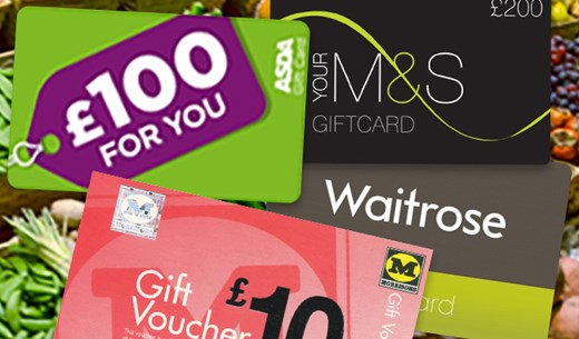 Win 1 of 5 Supermarket Vouchers worth £500