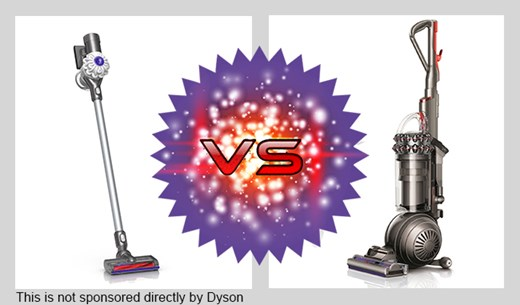 Product reviewers needed to review the Dyson upright against the Dyson V6