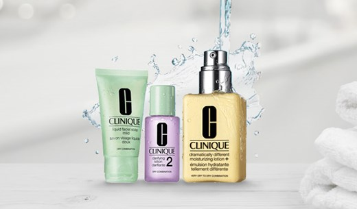 Test and keep a Clinique package
