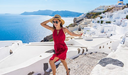 Rate and review a spring break in Santorini