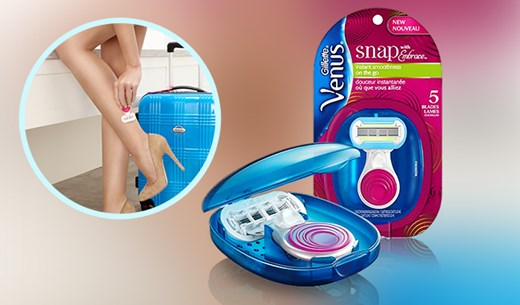 Test and keep Venus snap razors