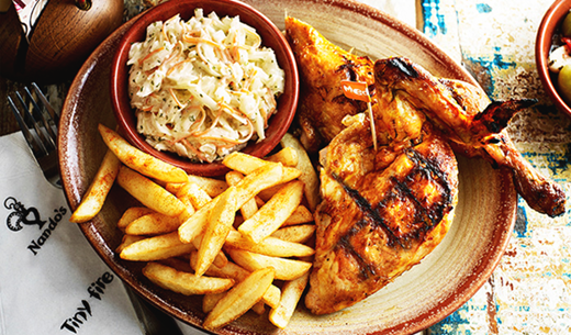 Review a family meal at Nando's
