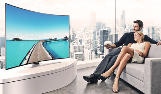 "Test and keep a Samsung Curved 55"" 4K Ultra-HD TV"