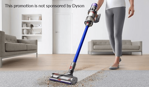 Win a gold Dyson V11 cordless vacuum