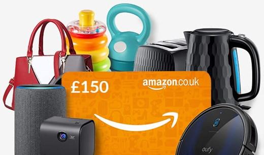Win a Amazon voucher worth £150