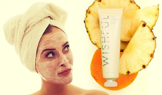Tell us if your skin glows after a month of using WISHFUL Yo Glow Enzyme Scrub