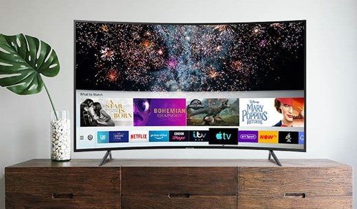 """Test and keep a Samsung 55"""" Curved HDR Smart 4K TV"""