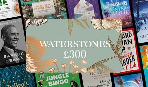 Win £300 Waterstones vouchers