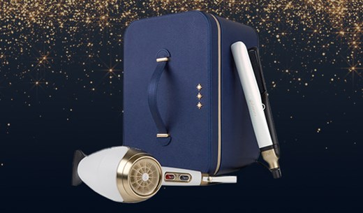 Test and keep the new ghd limited edition platinum+ & helios™ white deluxe gift set