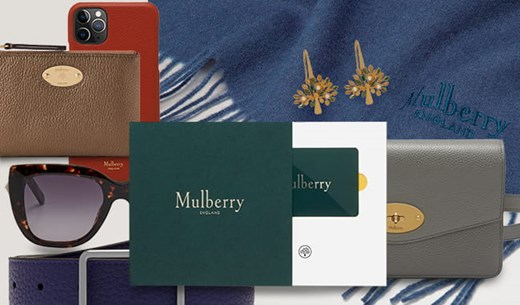 Enter to win a £300 Mulberry gift card