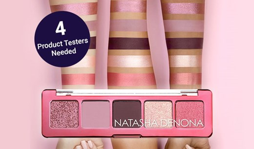 4 Product Testers wanted to try the Mini Love Eyeshadow Palette by Natasha Denona