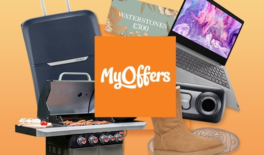 Join MyOffers to win the latest electronics, gadgets and more.
